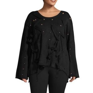 NWT Black Woven Sweater Plus Size Gabrielle 1X